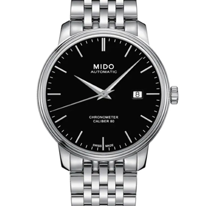 Picture of Mido Baroncelli III Automatic Steel Watch with Black Dial