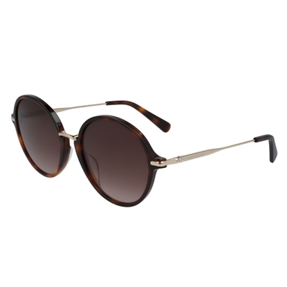 Picture of Longchamp Roseau Round Sunglasses - Havana