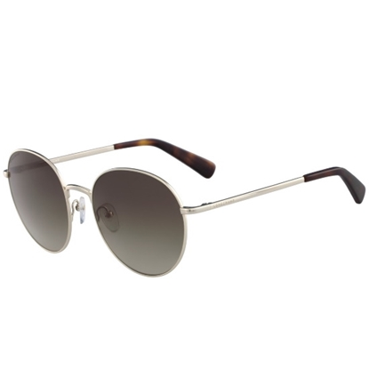 Picture of Longchamp Round Metal Gunglasses - Gold