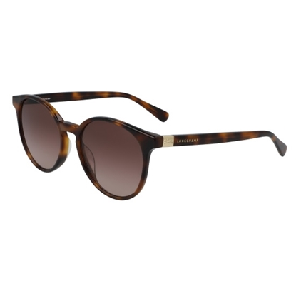 Picture of Longchamp Le Plaige Round Sunglasses - Havana