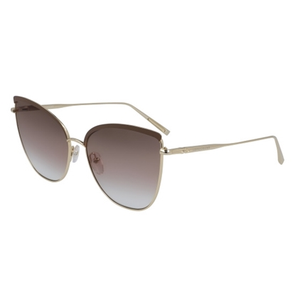 Picture of Longchamp Roseau Cat Eye Sunglasses - Gold/Brown