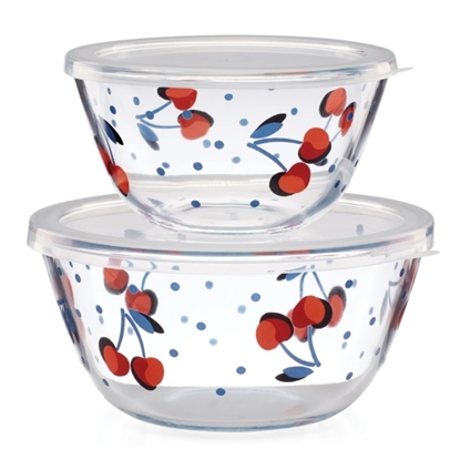 Picture of Kate Spade Vintage Cherry Dot Round Food Storage Set