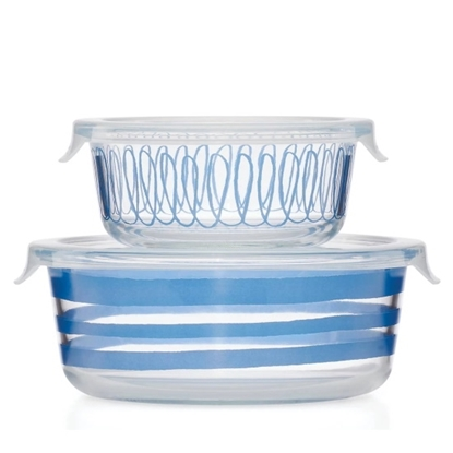 Picture of Kate Spade Charlotte Street Blue Food Storage Set
