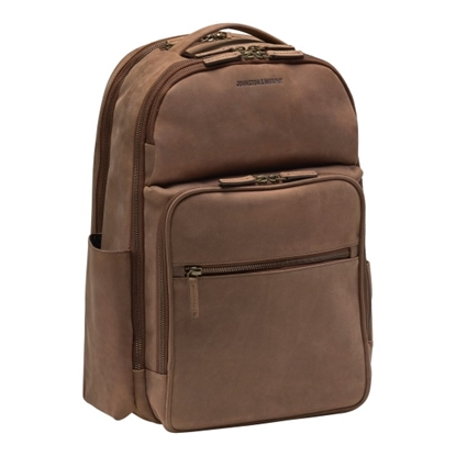 Picture of Johnston & Murphy Backpack - Whiskey Milled Leather