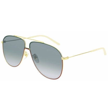Picture of Gucci Aviator Small Logo Sunglasses - Ruthenium/Grey