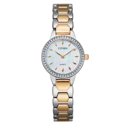 Picture of Citizen Ladies' Quartz Two-Tone Steel Watch with MOP Dial