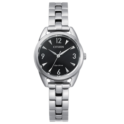Picture of Citizen Ladies' Drive Stainless Steel Watch with Black Dial