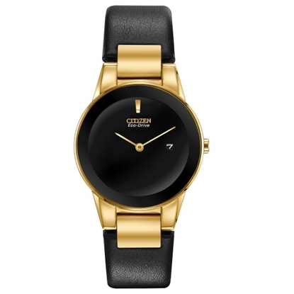 Picture of Citizen Ladies' Eco-Drive Axiom Watch with Black Leather Strap