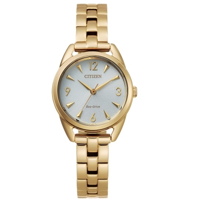 Picture of Citizen Ladies' Drive Gold-Tone Watch with Silver Dial