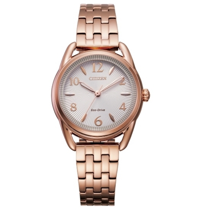 Picture of Citizen Ladies' Drive Rose Gold-Tone Watch with Silver Dial