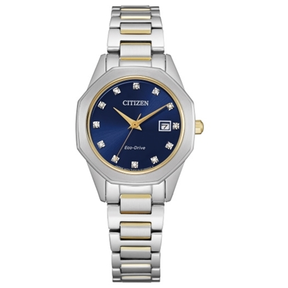 Picture of Citizen Ladies' Eco-Drive Corso Two-Tone Watch with Blue Dial