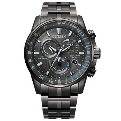 Picture of Citizen Men's Eco-Drive PCAT Chrono Black Steel Watch