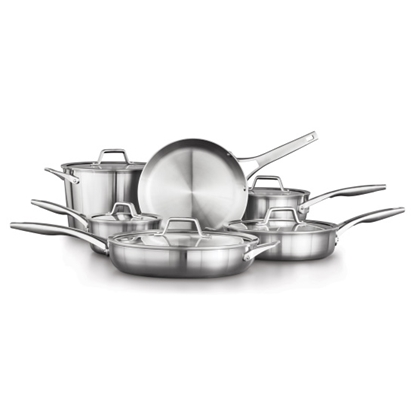 Picture of Calphalon Premier Stainless Steel 11-Piece Cookware Set