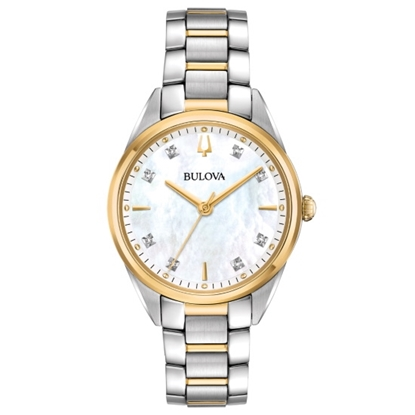 Picture of Bulova Ladies' Sutton Two-Tone Watch with MOP Dial