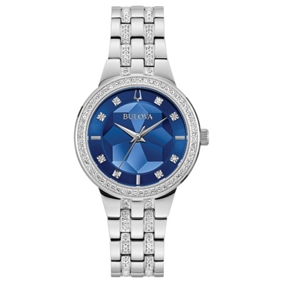Picture of Bulova Ladies' Phantom Crystals Watch with Blue Dial