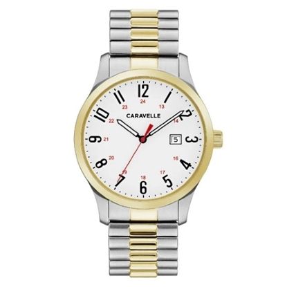 Picture of Bulova Caravelle NY Traditional Two-Tone Watch with White Dial