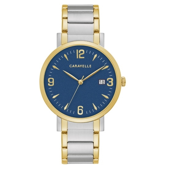 Picture of Bulova Caravelle NY Men's Dress Two-Tone Watch with Blue Dial