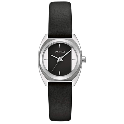 Picture of Bulova Caravelle NY Sport Watch with Black Leather Strap
