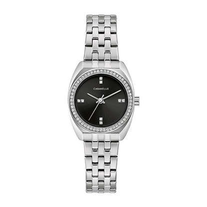 Picture of Bulova Caravelle NY Sport Crystal Watch with Black Dial