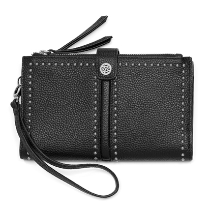 Picture of Brighton Pretty Tough Double Zip Wallet - Black