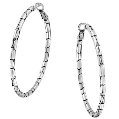 Picture of Brighton Pebble Large Hoop Earrings