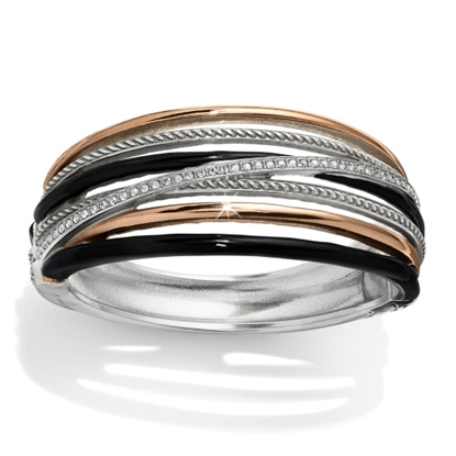 Picture of Brighton Neptune's Rings Hinged Bangle - Black