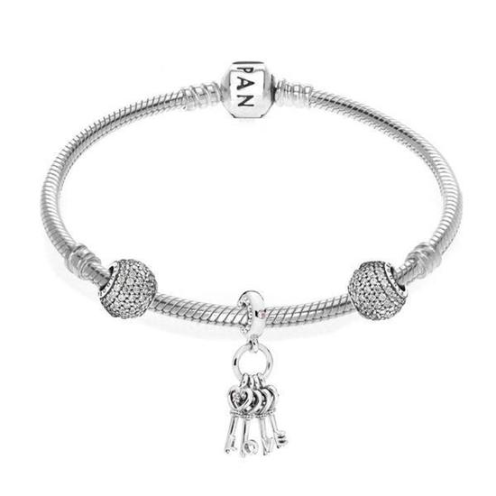 Picture of Pandora® Keys of Love Bracelet- Size 7.5