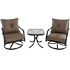 Picture of Hanover Palm Bay 3-Piece Swivel Chat Set