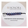 Picture of Honora Adjustable HOPE Bracelet with Black Freshwater Pearls
