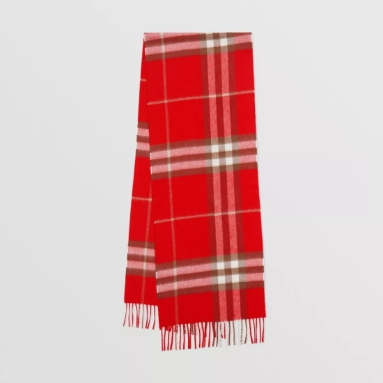 Picture of Burberry Giant Check Cashmere Scarf - Red