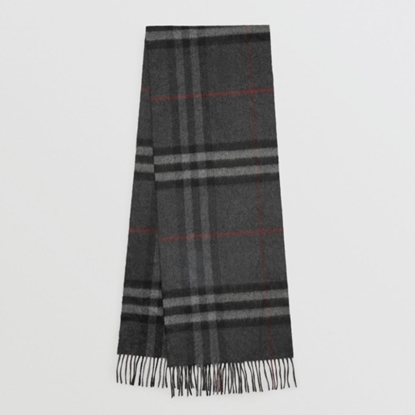 Picture of Burberry Heritage Check Scarf - Charcoal