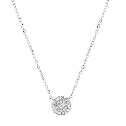 Picture of Nadri Pave Circle Pendant Necklace
