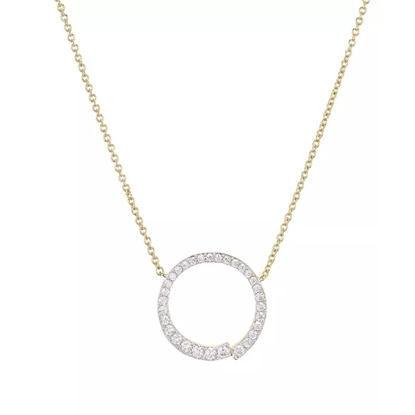 Picture of Nadri Open Circle Pendant Gold-Tone Necklace
