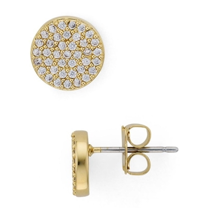 Picture of Nadri Pave Circle Stud Gold-Tone Earrings