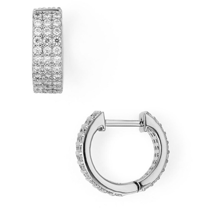 Picture of Nadri Aura Triple CZ Huggie Earrings