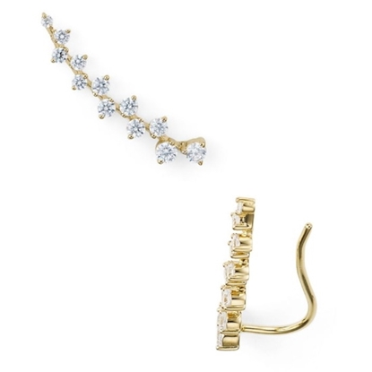 Picture of Nadri Pave Gold-Tone Crawler Earrings