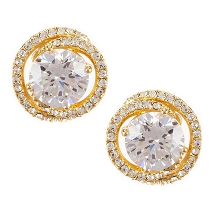 Picture of Nadri Button Post Gold-Tone Earrings