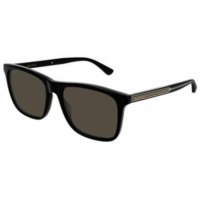 Picture of Gucci Men's Clubmaster Sunglasses - Black/Polarized Grey