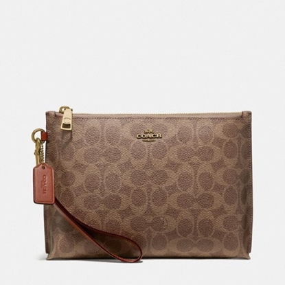 Picture of Coach Charlie Signature Pouch - Beige/Tan Rust