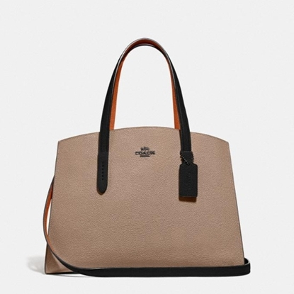 Picture of Coach Charlie Carryall - Beige/Taupe Multi