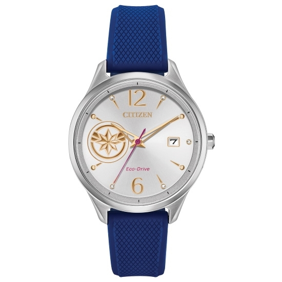 Picture of Citizen Ladies' Captain Marvel Watch with Blue Silicone Strap