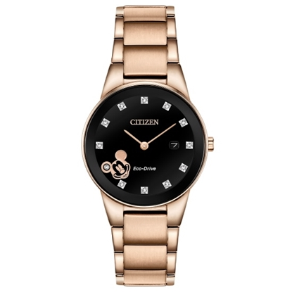 Picture of Citizen Ladies' Mickey Diamond Rose Gold-Tone Watch