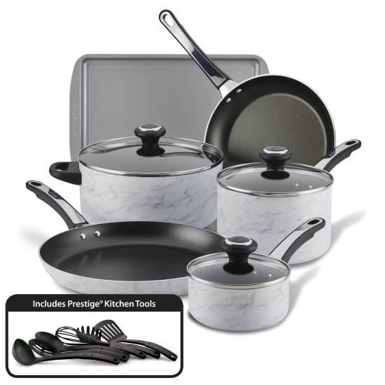 Picture of Farberware Marble 15-Piece Cookware Set