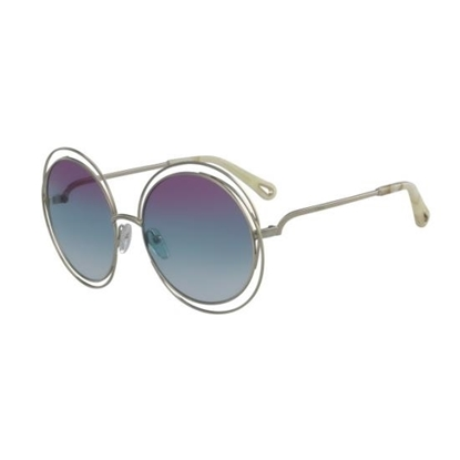 Picture of Chloe Carlina Sunglasses - Gold with Purple Azure Lens
