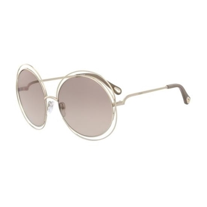 Picture of Chloe Carlina Sunglasses - Gold with Brown Gradient Flash Lens