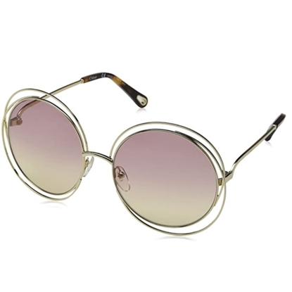 Picture of Chloe Carlina Sunglasses - Gold with Havana/Rose Honey Lens
