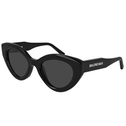 Picture of Balenciaga Cat Eye Sunglasses with Logo - Black/Grey
