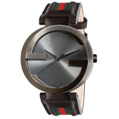 Picture of Gucci Interlocking Quartz XL Watch with Black/Green/Red Strap