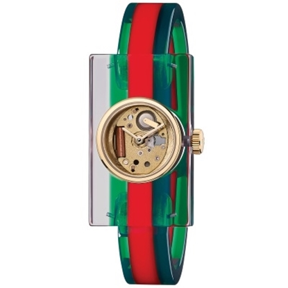 Picture of Gucci Ladies' Skeleton Dial Bangle Watch