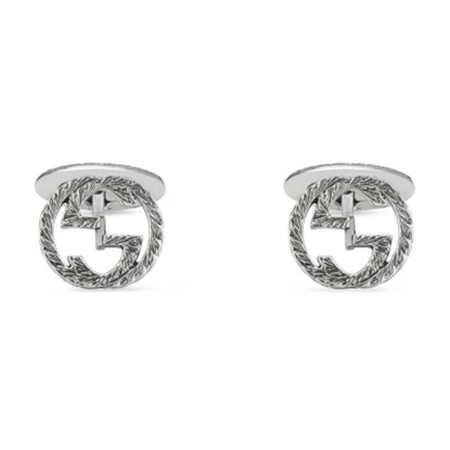 Picture of Gucci Interlocking G Cufflinks - Silver
